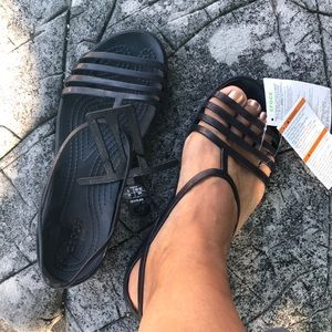 NWT CROCS Iconic sandals size 8